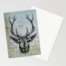 Russian Deer Stationery Cards