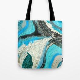Turquoise Geode II Tote Bag