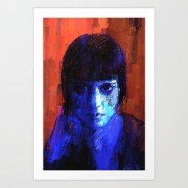 Portrait of Louise Brooks Art Print