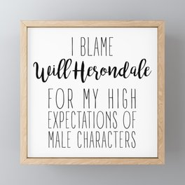 High Expectations - Will Framed Mini Art Print