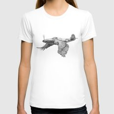 In which it's a bird. It's a plane. X-LARGE White Womens Fitted Tee