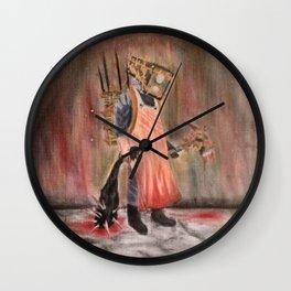 Safe Head Wall Clock