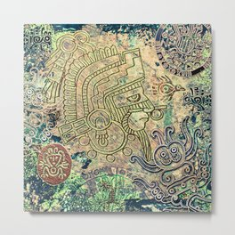 Ancient Mexico Metal Print