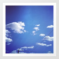 nothing but blue skys. Art Print