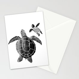 Shielded Love (black and white) Stationery Cards