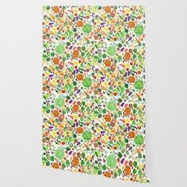 Fruit and Veg Pattern Wallpaper