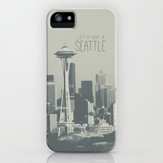 I LEFT MY HEART IN SEATTLE iPhone (5, 5s) Slim Case
