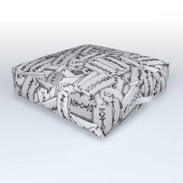 Razor blades Outdoor Floor Cushion