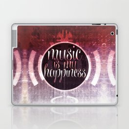 music is my happiness | music theme Laptop & iPad Skin