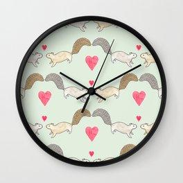 Squirrel Love Wall Clock