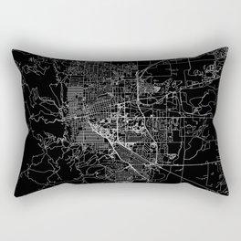 Boulder Black Map Rectangular Pillow
