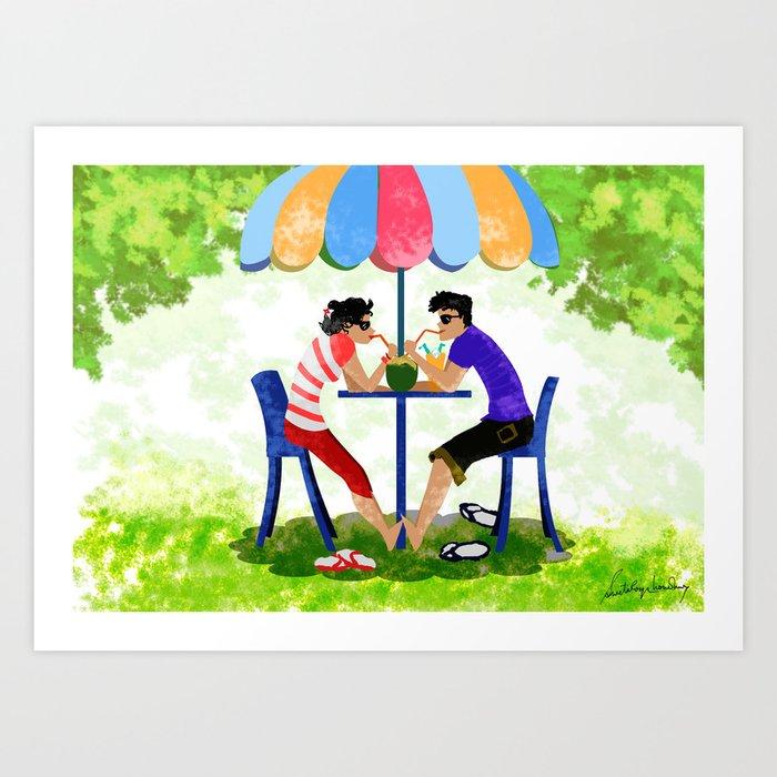 Summer Lovers Art Print