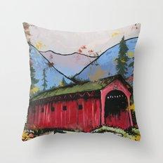 West Arlington Bridge, Arlington Vermont Benefit Print Throw Pillow