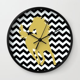 Golden Horse Wall Clock