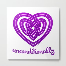 UNCONDITIONALLY in purple Metal Print
