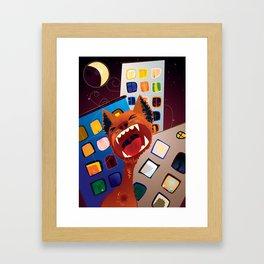 Eine Kleine Nachtmusik Red Cat Framed Art Print