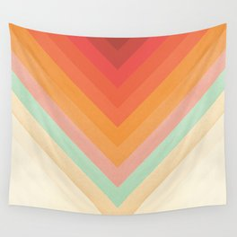 Rainbow Chevrons Wall Tapestry