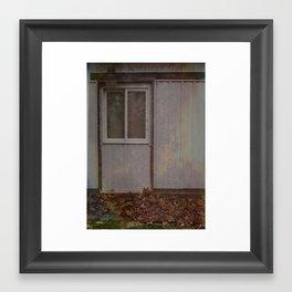 A faded door Framed Art Print