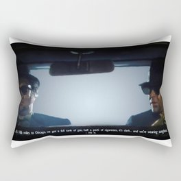 106 miles to Chicago Rectangular Pillow
