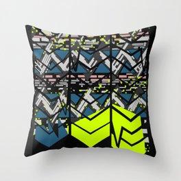 Spatter Zig-Zag Pattern Throw Pillow