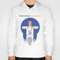 real madrid Hoodies featuring Cristiano Ronaldo Real Madrid Illustration by Gary  Ralphs Illustrations