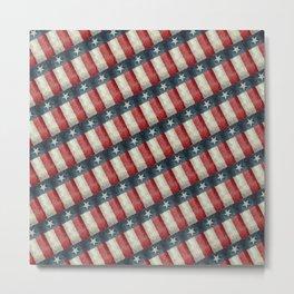 Texan state flag - vintage pattern Metal Print