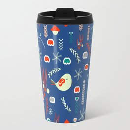 Christmas pattern with cute birds Travel Mug