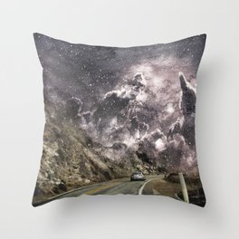Space gazing Highway One Throw Pillow