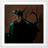will graham Art Prints featuring Will Graham by Palloma