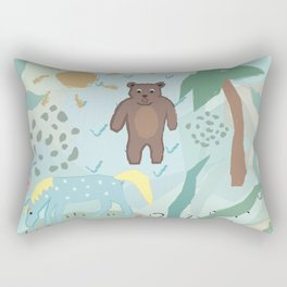Bear and Unicorn Rectangular Pillow