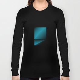 blue color energy fold Long Sleeve T-shirt