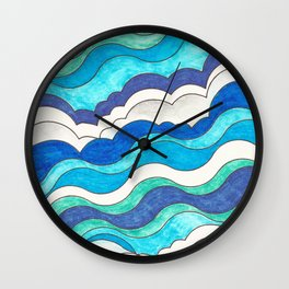 Make Waves II Wall Clock