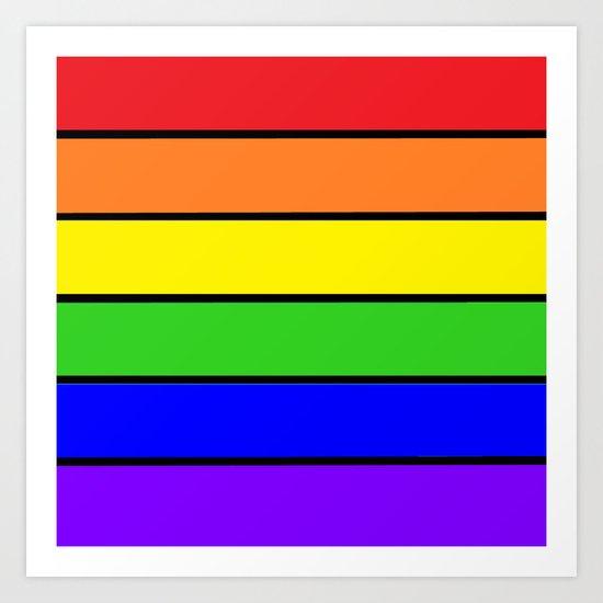 Rainbow Stripes Art Print By 2sweet4words Designs Society6