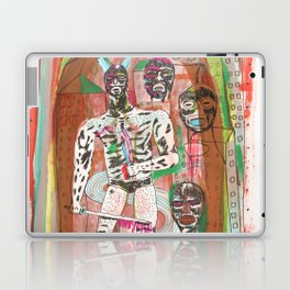 Haa wrestling man with horns and swords Laptop & iPad Skin