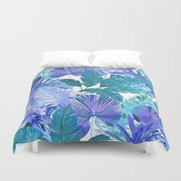 Tropical Leaf Blue Duvet Cover