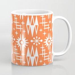 Mid Century Modern Atomic Space Age Pattern Orange Coffee Mug