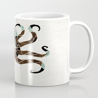 octopus Mugs featuring octopus by Manoou