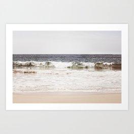 Neutral Ocean Landscape Photography, Grey Seascape Art, Gray Sea Beach Photo, Coastal Print Art Print