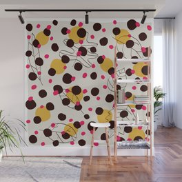 Dots + leaves Wall Mural