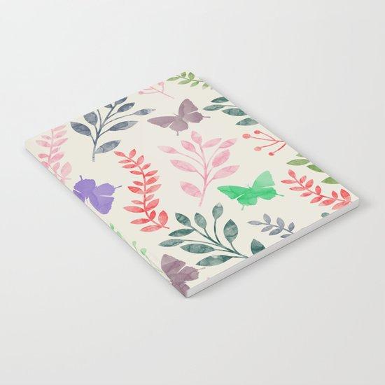 Watercolor flowers & butterflies Notebook