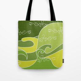 Waves V green colors V Duffle Bags Tote Bag