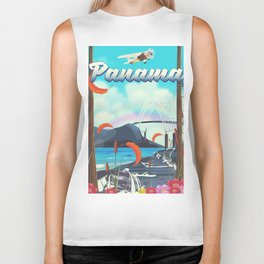 Panama flight travel poster. Biker Tank