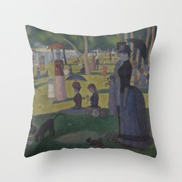 A Sunday on La Grande Jatte Throw Pillow