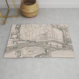 Vintage Map of Maastricht Netherlands (1695) Rug
