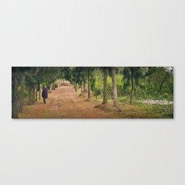 Walking Massai Canvas Print
