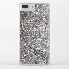 Sparkling SILVER Lady Glitter #1 #decor #art #society6 Clear iPhone Case