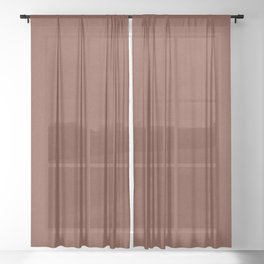 Brown Knitted Weaving Sheer Curtain
