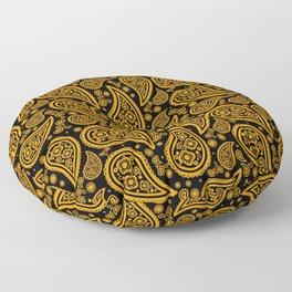 Paisley (Orange & Black Pattern) Floor Pillow