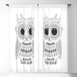 White Owl Blackout Curtain