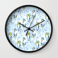 Budgies Wall Clock